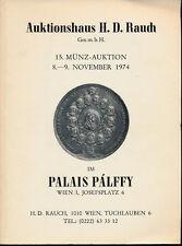 HN RAUCH Auktion november 1974 n° 15 Wien  Monete antiche, austriache e tedesche