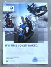 BMW F800 R1200 K1300 Genuine 2013 Motorcycle Magazine Page Sales Advertisement