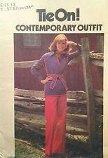"NEW & VINTAGE 1970s 'BUTTERICK' TUNIC & PANTS PATTERN 5180 SIZE 12/34"""