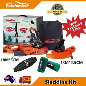 High-grade 18M Slackline kit with Training Line,Slack Line Balance Line Kit