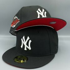 New York Yankees 1996 World Series New Era 59FIFTY Fitted Black Hat Red Bottom B