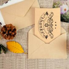 36 Pack Brown Kraft Paper with 6 Different Design Thank You Cards with Envelopes