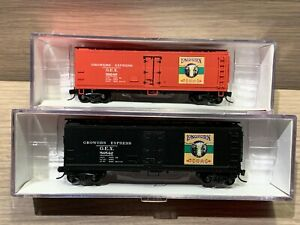 2 N Scale Intermountain Longhorn Wood Side Refrigerator Cars Growers Express