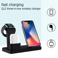 3in1 Qi Wireless Fast Charger Dock Stand For Apple Watch iPhone11 Pro Max X/XS/8