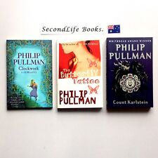 x3 PHILIP PULLMAN Novels ~ Clockwork Butterfly Tattoo Count Karlstein.