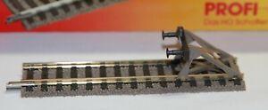 Fleischmann H0 Profigleis - 6116 Gleisstück 6102 mit Prellbock, neu, unbenutzt