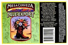 Lizard Head Brewing dba Mesa Cerveza MESA CERVEZA PALE EXPORT label CO 12oz