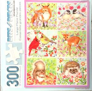 Forest Love Quilt NEW Puzzle, by Bits and Pieces - 300 Large Pieces - Animals
