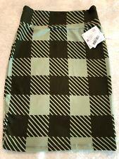 *NEW* LuLaRoe Cassie Pencil Skirt Olive/Fern Green Checkered Print Size M