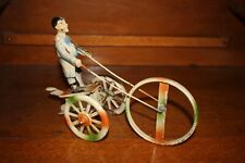 Antique Germany Wind Up Hand Painted Tin Toy GUNTHERMANN BOY PLAYING