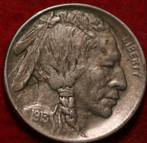 1913-D Type I Denver Mint Buffalo Nickel