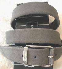 Ermenegildo Zegna cinturón de gamuza cinturón *** gris *** nuevo *** 105 cm belibig sencillez bar
