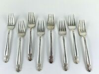 Holmes & Edwards Gumbo 8 Salad Forks! Vintage Silverplate: Danish Princess