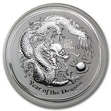Perth Mint Australia 2012 $8 Lunar Series II Dragon 5 oz .999 Silver Coin