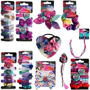 Choose Type TROLLS 2 HAIR ACCESSORIES Girls Kids Ponytail Bobbles Ties Clips Bow