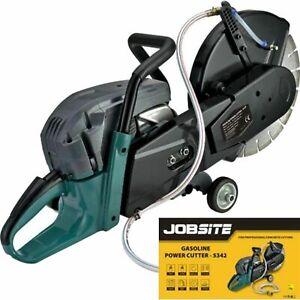 Jobsite 2400W 300mm 2 Stroke Petrol Disc Power Stone Saw Concrete Cutter 12