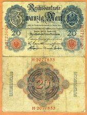 Germany, 20 Mark, 1910, Pick 40, G