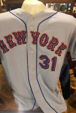 HOF Mike Piazza NY Mets Game Used Away Jersey McGraw & Murphy Patch Steiner COA