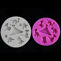 3D Dinosaurs Silicone Cake Decoration Fondant Chocolate Mold Baking Tools QK
