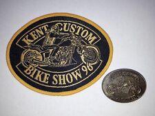 NEW Hells Angels Kent Custom Show 1996 Patch & Pin Badge - Bike Memorabilia