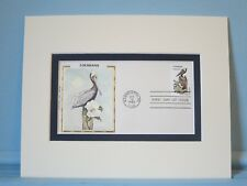 State Bird & Flower of Louisiana - Brown Pelican & Magnolia & First Day Cover