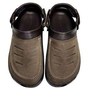 Crocs Mens Espresso Yukon Vista Clog Casual Stylish Comfy Summer Shoes size US 7