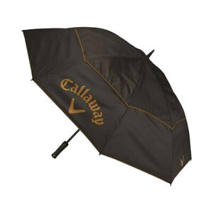 "Callaway Golf Uptown 60"" Double Canopy Umbrella, Black/Brown"