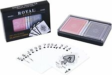 2-Pack of Royal 100% Plastic Playing Cards Set - Washable, Waterproof
