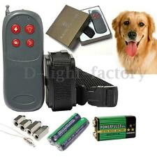 4 In 1 Dog Pet Remote Control Training Shock Vibrate Collar Trainer Safe No Bark
