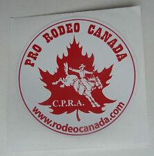 Pro Rodeo Canada CPRA 1980 Canadian Professional Rodeo Associaton Decal Sticker