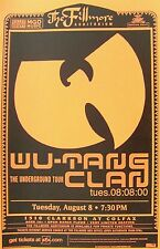 "WU-TANG CLAN ""THE UNDERGROUND TOUR"" DENVER 2000 CONCERT TOUR POSTER- Band's Logo"