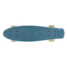 Cal 7 Retro Style 22 Inch Blue, White Oceanic Mini Cruiser Complete Skateboard