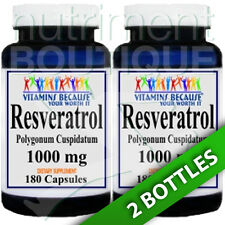 Resveratrol 1000mg 2X180caps (Polygonum Cuspidatum) - by Vitamins Because