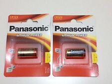 Batería de litio Panasonic CR123A 3 voltios 2 paquetes de caducidad 2026