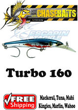 Chasebaits Turbo 160 Deep diving minnow. Macks, tuna, mahi, Wahoo. Trolling Lure