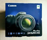 Canon PowerShot SX520 HS 16.0MP Digitalkamera - Schwarz NEU & OVP