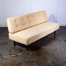 New listing Mid Century Danish Modern Daybed Sofa Faux Lambskin Wool Wood White Denmark