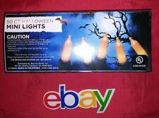 50 indoor outdoor Halloween HOLIDAY FLICKER & CONSTANT lights ORANGE bulbs NEW !