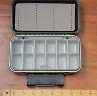 Fly fishing fly box slotted foam/12 compartment Waterproof (NEW)   FREE SHIPPING