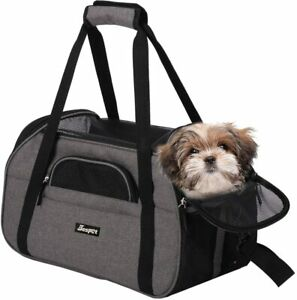 "JESPET Soft Sided Pet Carrier Comfort to Travel for SmallGray19"" x 10"" x 13"""