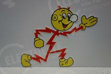 """Reddy Kilowatt Power Light """"RUNNING"""" SIGN ELECTRICIAN GIFT HEAVY DUTY DIE CUT"""