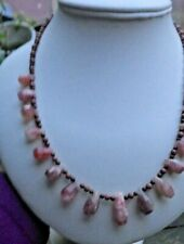FACETED SUNSTONE BROWN OBSIDIAN GOLD STONE NECKLACE EARRINGS ROSE GOLD SILVER