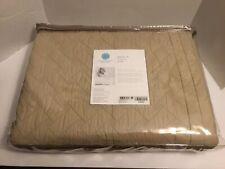 Martha Stewart Collection Basket Stitch Twin Quilt (Tan) Bedding NEW