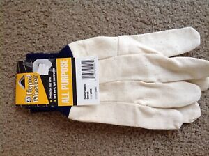 All Purpose Canvas Work Gloves Large