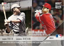 2018 Topps Now BABE RUTH SHOHEI OHTANI Moment of the Week #MOW-1