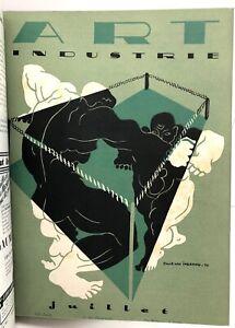 ART DÉCO rare Revue mensuelle ART ET INDUSTRIE année 1933 COMPLET 12 N° RELIÉS