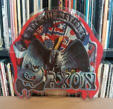"SAXON Rock The Nations 7"" Shaped Pic Disc - EMIP 5587 - EXCELLENT"