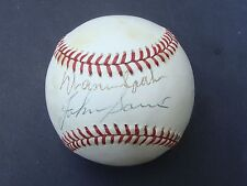 WARREN SPAHN JOHNNY SAIN  dual signed Baseball autographed  JSA J97683