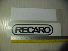 2 RECARO racing seats di-cut sticker decals. JDM aftermarket racing sponsor