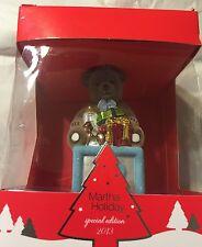 New Martha Stewart Holiday Special Edition B Block/Bear Christmas Ornament